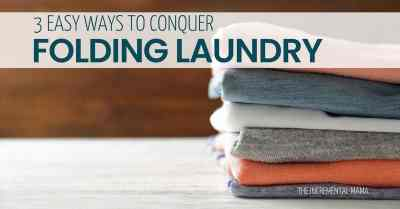 Never fall behind on folding again with these simple folding laundry folding hacks! #laundryhacks #momhacks #laundryroutine