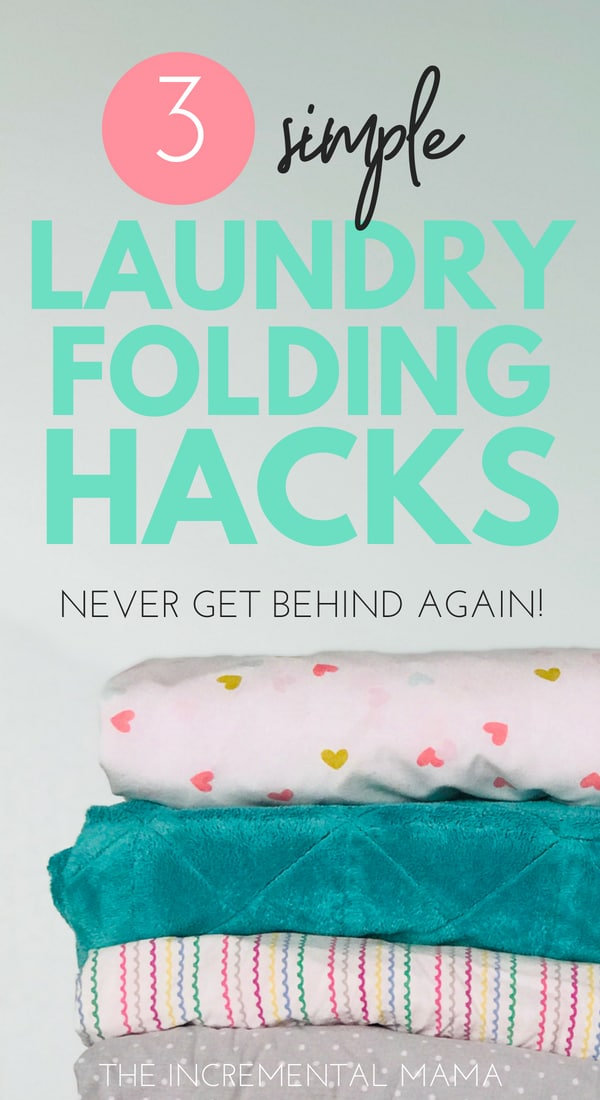 Hate folding laundry? Never fall behind again with these simple folding laundry folding hacks! #laundryhacks #momhacks #laundryroutine