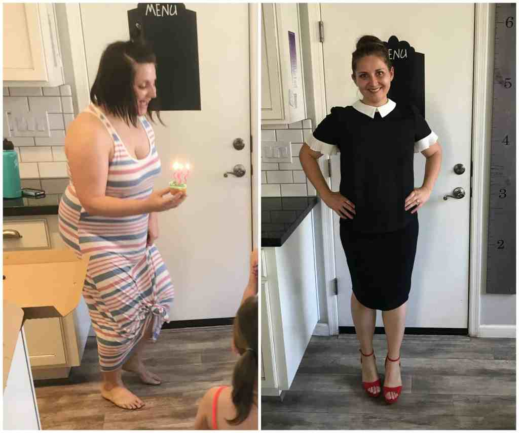 before and after intermittent fasting and breastfeeding