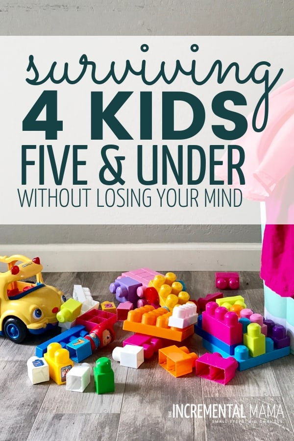 Conquer mom overwhelm and a create a happier and healthier mom life with these 11 tips to survive mothering little kids from a mom of 4 kids 5 and under! #4kids5andunder #tipsformoms #overwhelmedmom