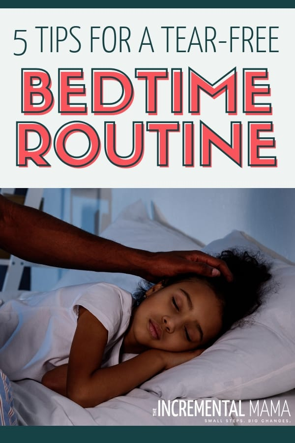 End bedtime battles and create a bedtime routine that will calm your kids and create a great family schedule with these 5 tips and ideas. #bedtimeroutineforkids #kidsschedule #bedtimeroutineideas