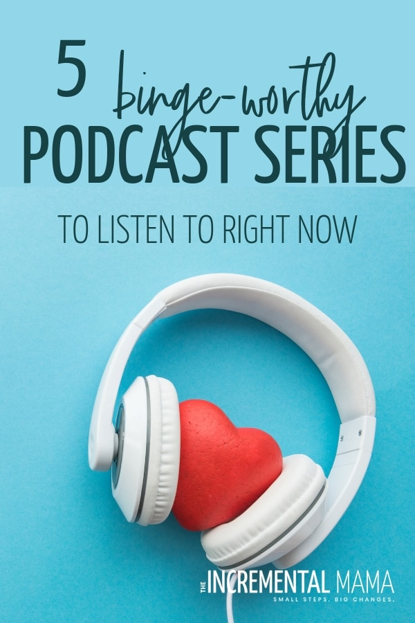 These 5 addictive podcasts are not only some of the best podcast around, but they're perfect for moms to listen to and make housework fun! #podcasts #podcastsformoms #addictivepodcasts