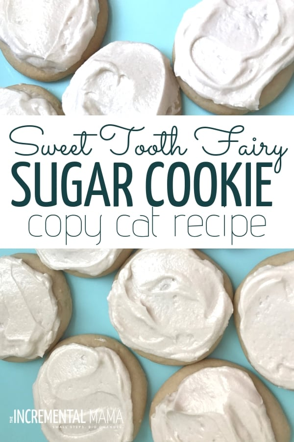 Do you love the Sweet Tooth Fairy Sugar Cookie? Then you need to check out this copycat recipe for this soft, delicious sugar cookie! #sweettoothfairysugarcookie #sugarcookierecipe