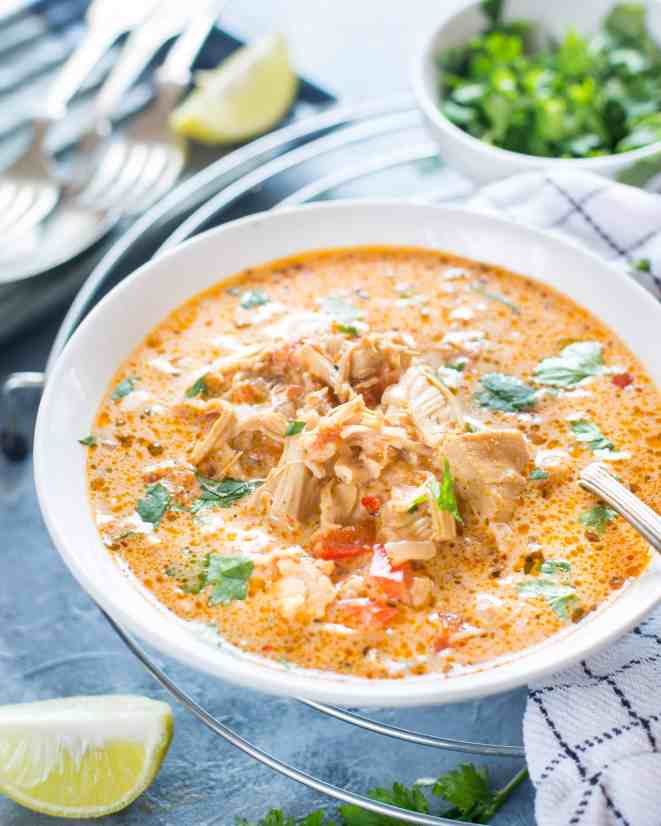 low carb slow cooker mexican chicken soup