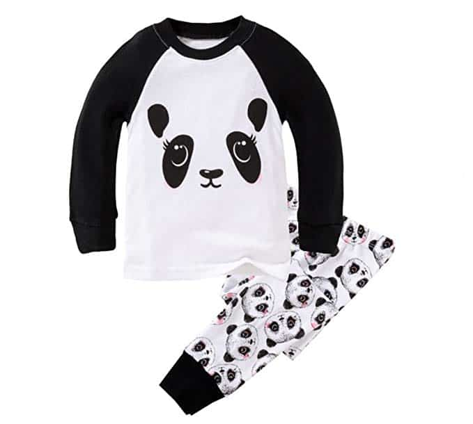 long-sleeved panda pajamas