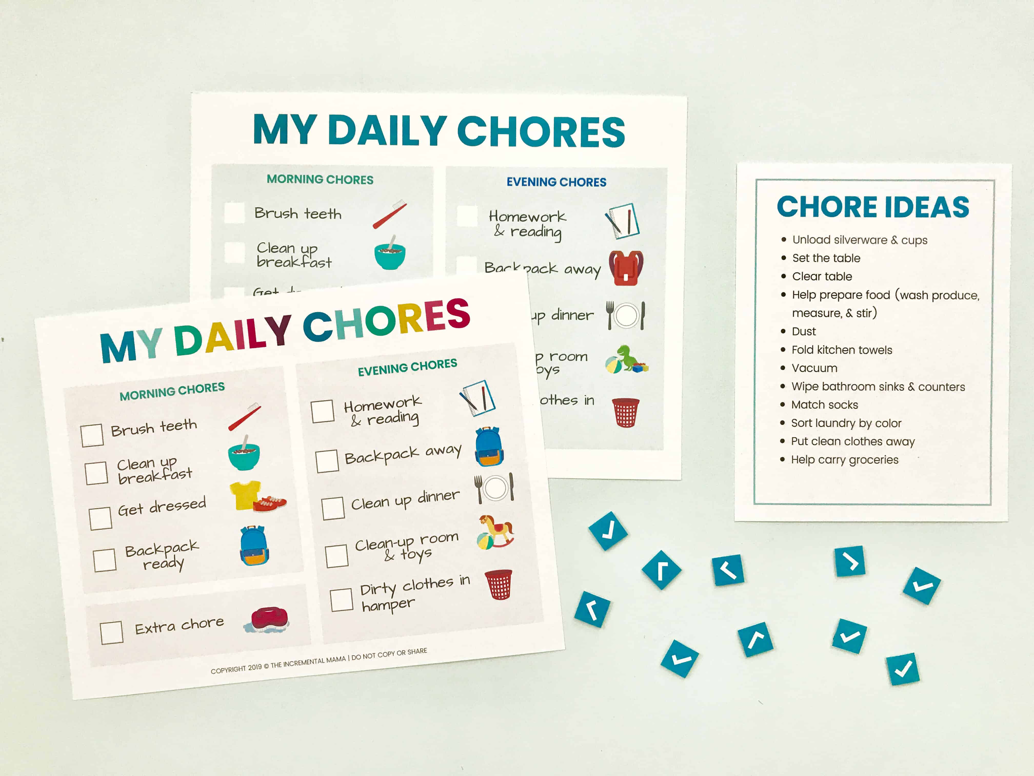 chore ideas for 5 year old