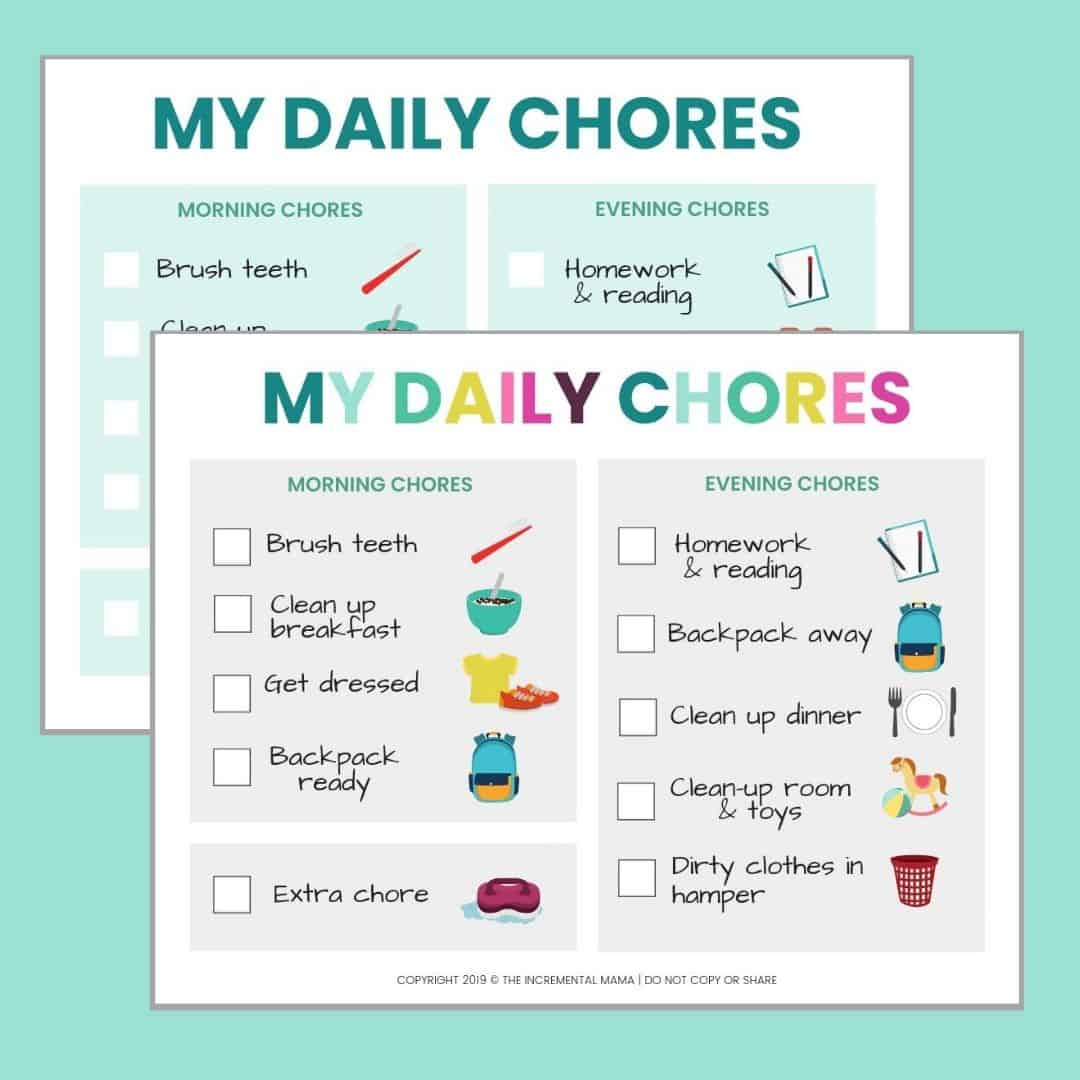 It's just an image of Smart Printable Chore Chart for 5 Year Old