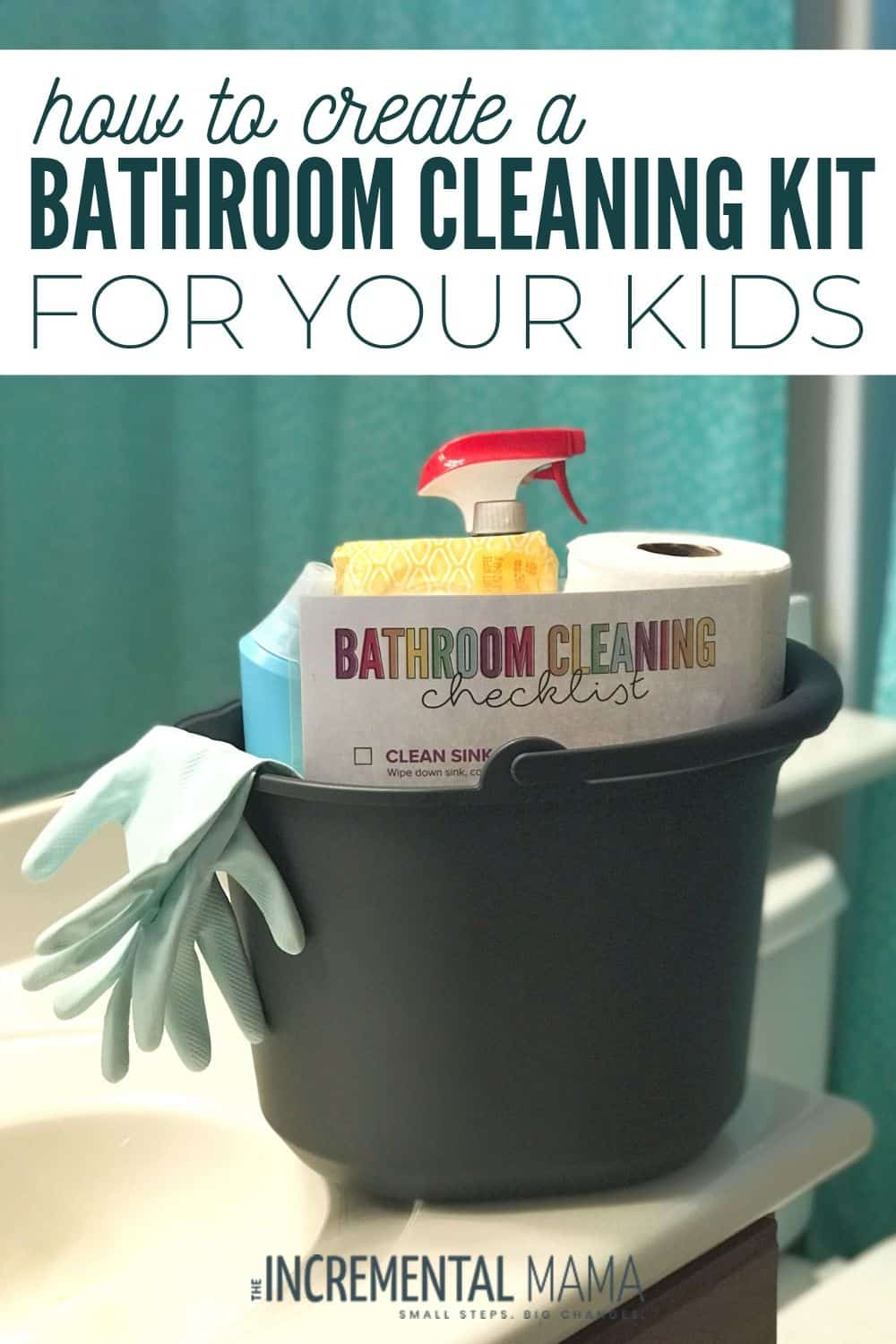 Bathroom cleaning kit for kids