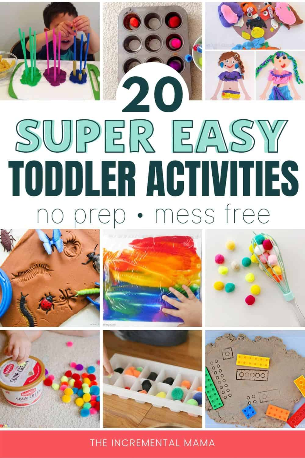 easy mess fress activities fore 2 year-olds