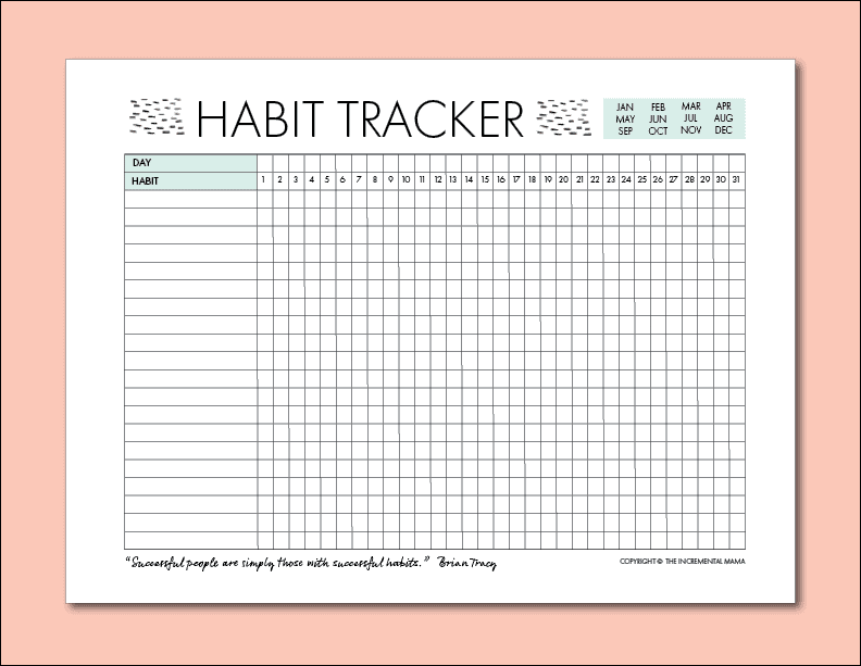 graphic relating to Free Printable Habit Tracker called No cost Everyday Routine Tracker Printable (and How toward Seek the services of it in the direction of