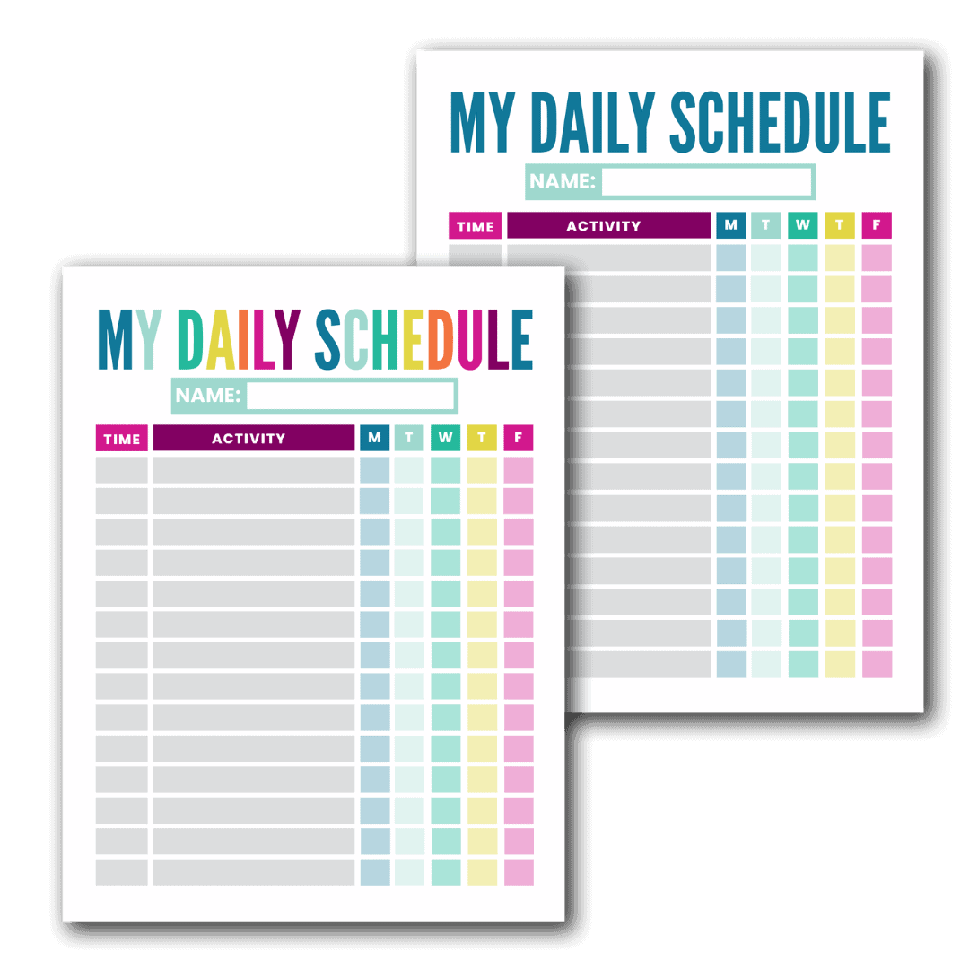 Free Printable Kid S Daily Schedule Template