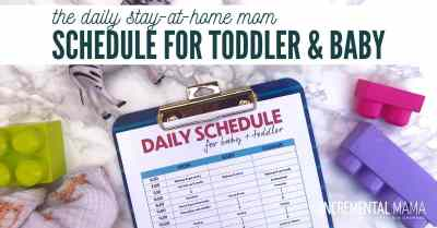 toddler and newborn daily schedule