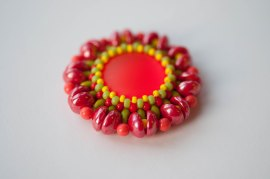 Kissing Piggies - Brights - Sarah Cryer Beadwork