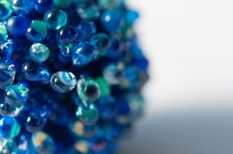 Anemone Beaded Bead necklace - Blues