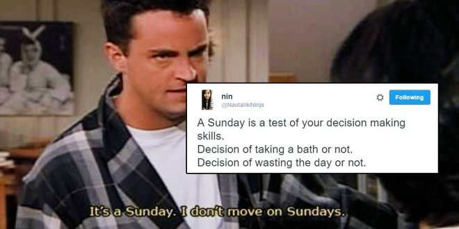 Every sunday in India tweets