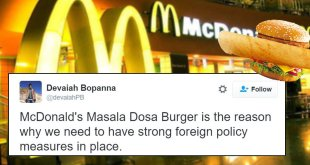 Internet Reacts To Mcdonalds Masala Dosa Burger
