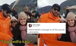Shahid afridi indian flag