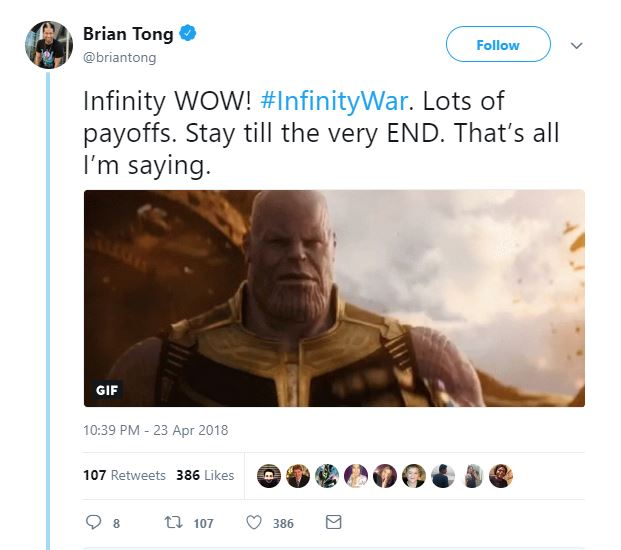 Avengers Infinity War Early Reviews