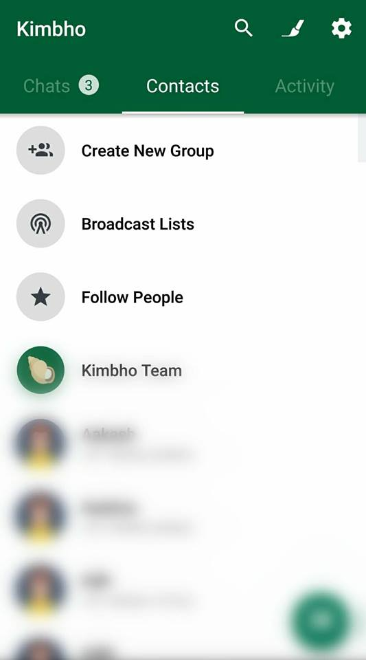 Kimbho app screenshot
