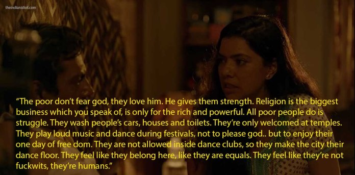 Sacred Games quotes and scenes: subhadra on poor people's love for god