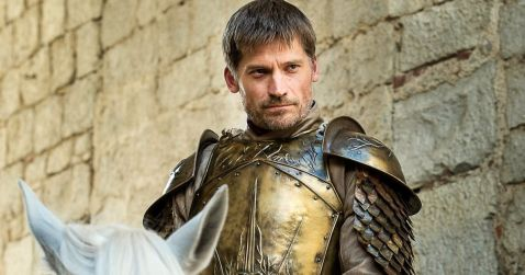 in photo jamie lannister charcater from the show game of thrones