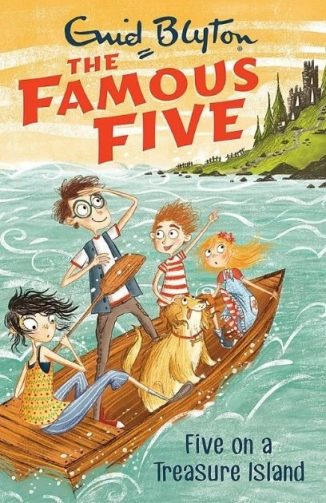 in photo cover of one of the famous five books