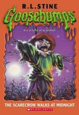 in photo the cover of one of the goosebumps series books by r.l. stine