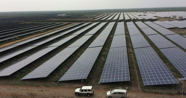 The world's largest solar farm at Kamuthi in southern India (Source: BBC)
