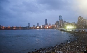 Mumbai skyline at night, India