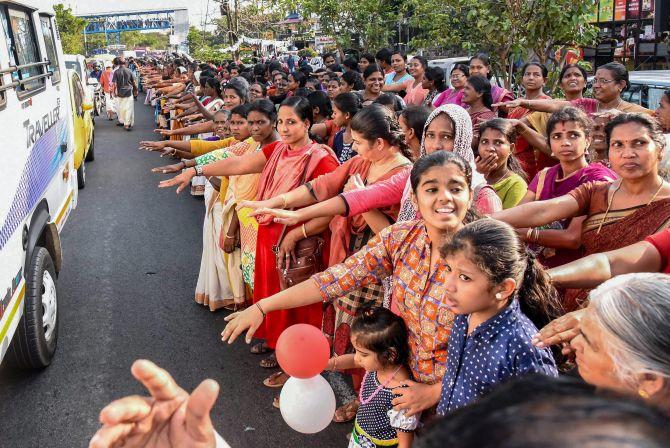 Sabarimala row: Kerala women form 620-km long human 'wall' -