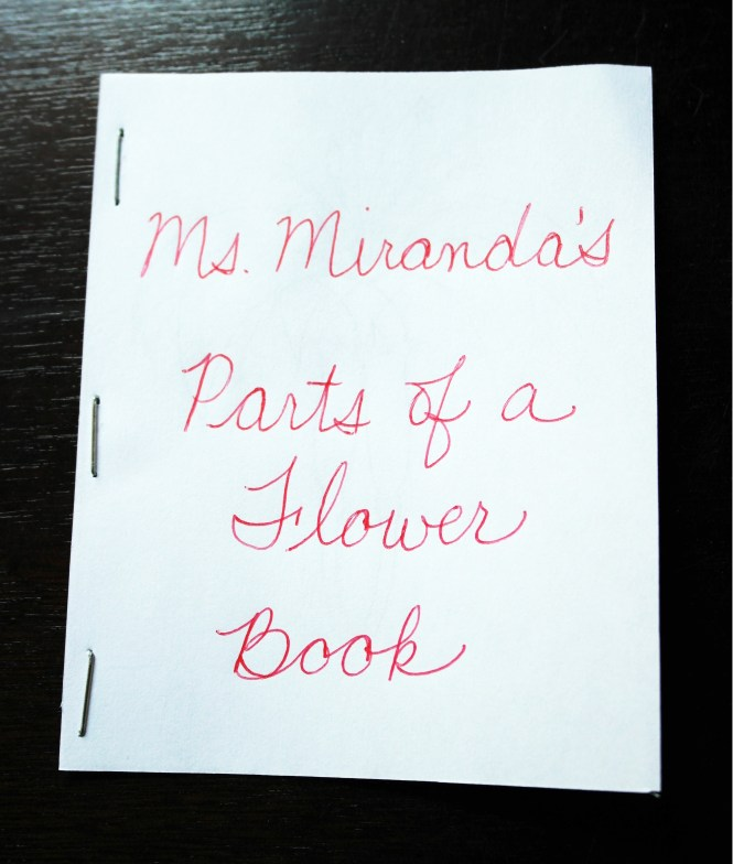 Ms. Miranda's Parts of a Flower Book