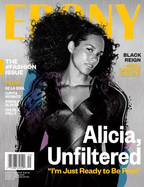 Alicia Keys Covers EBONY Magazine's Fashion Issue
