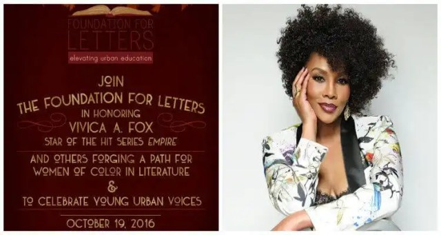 Vivica A. Fox to be Honored at The Annual Foundation for Letters