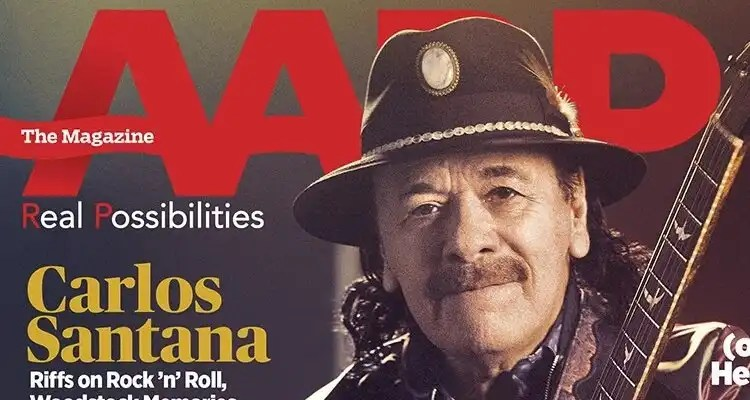 Carlos Santana Covers the August/September Issue of AARP The Magazine