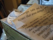theinfill doll's house blog - constructing the vortex of paper for the Time Techs