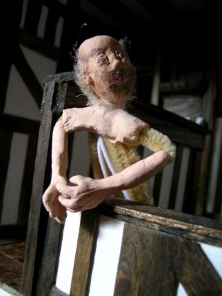 theinfill - trying Creative Paperclay for hands - Medieval, Tudor and Jacobean dolls' house