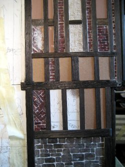theinfill Medieval, Tudor, Jacobean 1:12 dolls house blog - the infill dolls house blog – front section forward of chimney