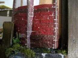 theinfill Medieval, Tudor, Jacobean 1:12 dolls house blog - the infill dolls house blog – egg carton bricks 8 bricks patterned set out