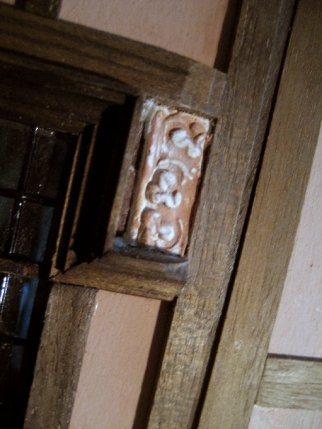 theinfill Medieval, Tudor, Jacobean 1:12 dolls house blog - the infill dolls house blog – external detailing to bedroom wall