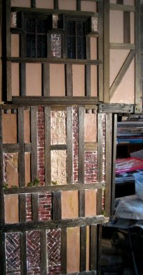 theinfill Medieval, Tudor, Jacobean 1:12 dolls house blog - Where the new wall fits with last set of work