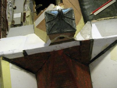 theinfill Medieval, Tudor, Jacobean 1:12 dolls house blog - the infill dolls house blog – 1st cupola trimmed and redressed up