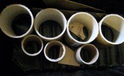 theinfill Medieval, Tudor, Jacobean dolls house blog - Hogepotche Hall –Hodgepodge Hall – cardboard tubing cut to length