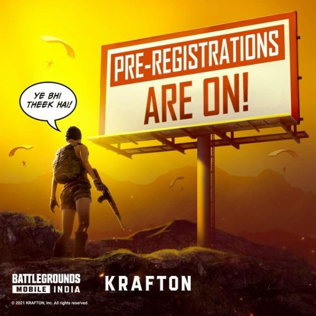 Did you hear? BATTLEGROUNDS MOBILE INDIA Pre-Registrations are on!