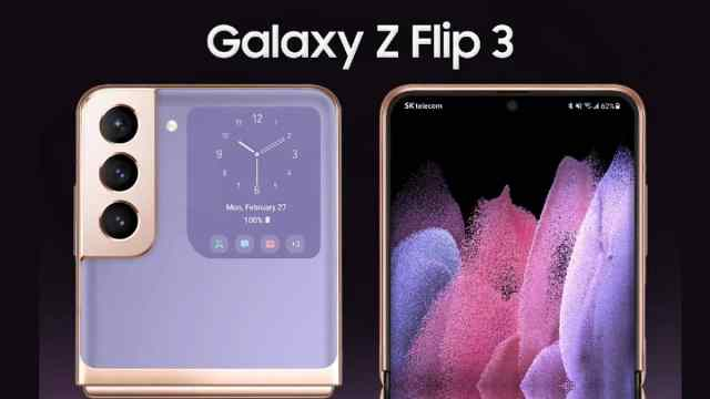 The Samsung Galaxy Z Flip 3 showed itself in all its glory: high-quality images in high resolution