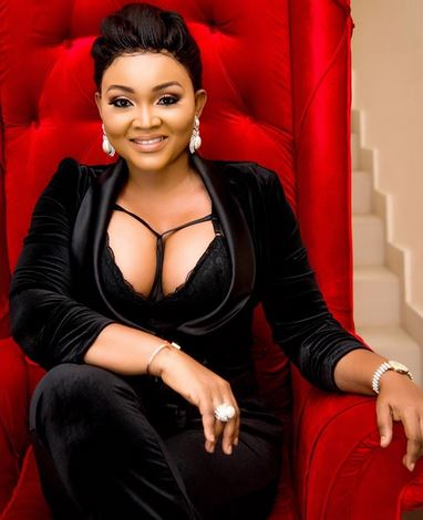 Mercy Aigbe cleavage