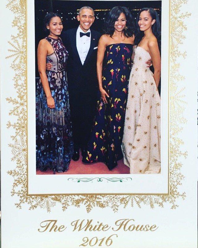 Obama 2016 family holiday card