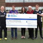 Lions Club makes donation to Albion's charity