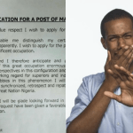 Laughable: Viral application letter written by a female Nigerian graduate