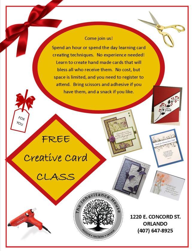 Card class flyer