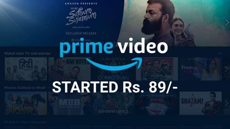 Amazon Prime Video Now Starts With Rs. 89/Month Only